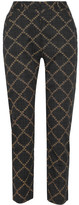 Etoile Isabel Marant Janelle Printed Cotton Tapered Pants - Black