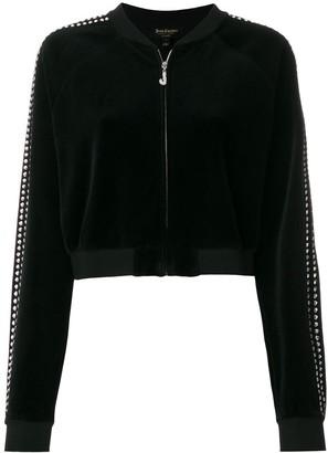 Juicy Couture Exclusive Swarovski embellished velour crop jacket