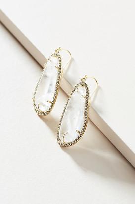 Anthropologie Sohla Drop Earrings By in White
