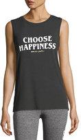 Spiritual Gangster Choose Happiness Chakra Jersey Muscle Tank