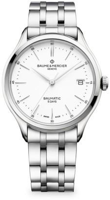 Baume & Mercier Clifton Baumatic Stainless Steel Rhodium-Plated Bracelet Watch