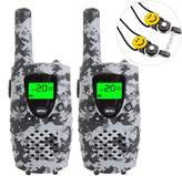 E-WOR Kids Walkie Talkies, 22-Channel FRS/GMRS Radio, 4-Mile Range Two Way Radios with Flashlight and LCD Screen. 2 Pack