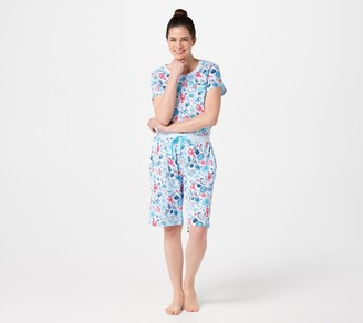 Carole Hochman Cotton Summer Bermuda Short Pajama Set
