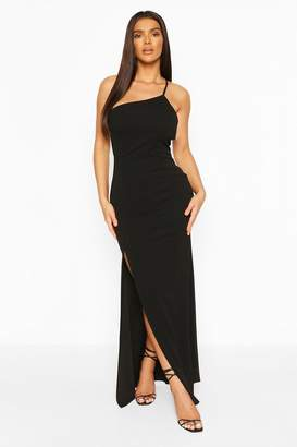 boohoo One Shoulder Strap Back Detail Maxi