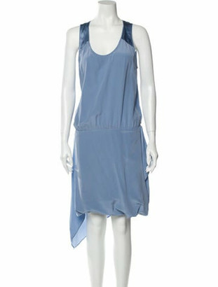Barbara Bui Silk Knee-Length Dress w/ Tags Blue