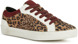 Geox Warley 7 Glitter & Cheetah-Print Low-Top Sneakers