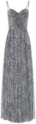Rasario Leopard-print crepe dress