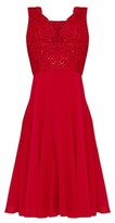 Dorothy Perkins Womens Chi Chi London Red Embellished Midi Skater Dress, Red