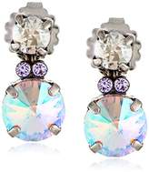 "Sorrelli Dixie"" Circular Crystal Cluster Post Earrings"