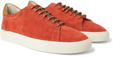 Richard James - Paragon Leather-trimmed Suede Sneakers