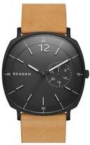 Skagen Men's 'Rungsted' Leather Strap Watch, 40Mm
