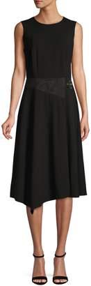 Calvin Klein Sleeveless Asymmetric-Hem Dress