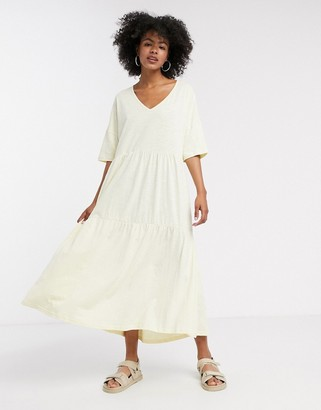Selected tiered maxi dress