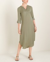Chico's Chicos Woven Shirttail-Hem Dress