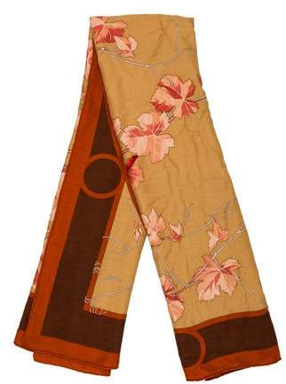 Hermes Pampres Cashmere Silk Shawl