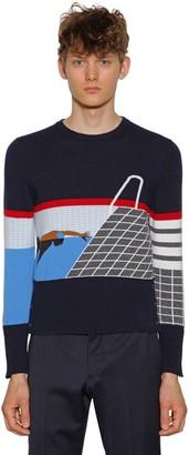 Thom Browne Intarsia Stripes Cashmere Sweater