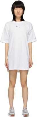 Champion Reverse Weave White Central Script Logo Dress