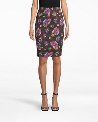 Nicole Miller Bouquet Beauty Cotton Metal Skirt