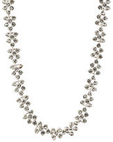 Anne Klein Crystallized Silvertone Collar Necklace