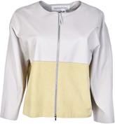 Fabiana Filippi Contrast Leather Jacket