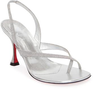 Christian Louboutin Taralita Glitter Toe-Ring Red Sole Sandals