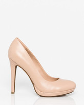 Le Château Leather-Like Almond Toe Platform Pump