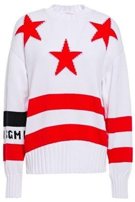 MSGM Intarsia Cotton Sweater