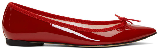 Repetto Brigitte Ballet Flat Flame Red EU 38 Pointed Toe Ballerina Shoe