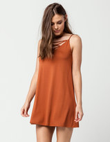 Socialite Cross Front Slip Dress