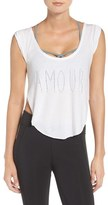 Free People Women's 'Gold Coast' Perforated Tee