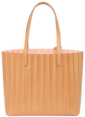 Mansur Gavriel Vegetable-Tanned Leather Pleated Tote Bag