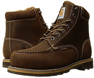 Carhartt 6 Moc Toe Lug Steel Toe (Dark Bison Oil Tanned) Men's Work Boots