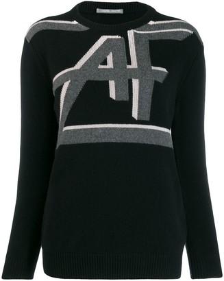Alberta Ferretti logo knit sweater