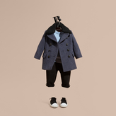 Burberry Technical Wool Coat with Detachable Textured Collar