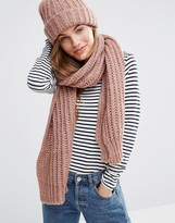 Pieces Knitted Scarf And Beanie Hat