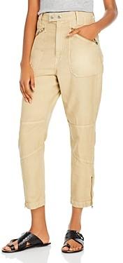 Frame Zip Trim Moto Pants