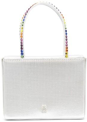 Amina Muaddi Crystal-Embellished Tote Bag