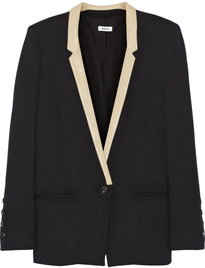 Helmut Lang Noa leather-trimmed cady blazer