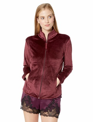N Natori Women's Solid Velour Jacket