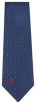Chanel Vintage Navy Polka Dot Silk Jacquard Tie