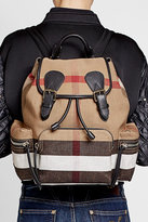 Burberry Printed Jute and Cotton Backpack