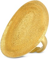 Stefano Patriarchi Golden Silver Etched Oval Ring