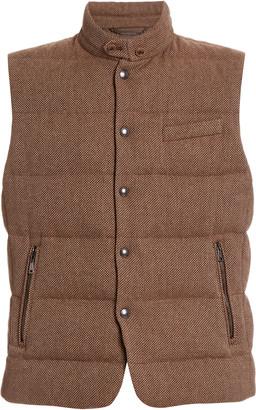 Ralph Lauren Purple Label Whitwell Quilted Tweed Vest
