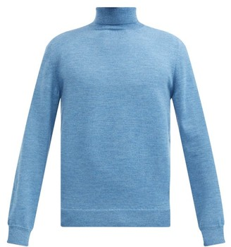 A.P.C. Dundee Roll-neck Wool Sweater - Blue