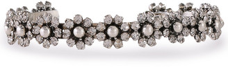 Dannijo Roxy Oxidized Silver-tone Crystal Cuff