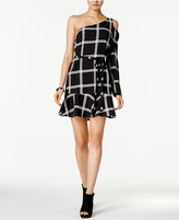 Bar III Printed One-Shoulder Dress, Created for Macy's
