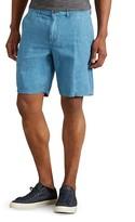 John Varvatos Linen Slim Fit Shorts