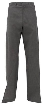Bianca Saunders - Split-cuff Belted Trousers - Grey
