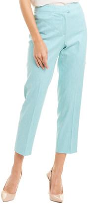 Piazza Sempione Skinny Linen-Blend Pant