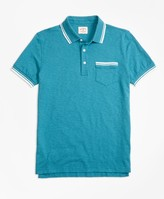 Brooks Brothers Slub Cotton Jersey Polo Shirt